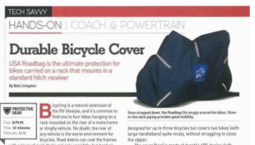 Bike Covers - bike travel covers Featured in MotorHome Magazine